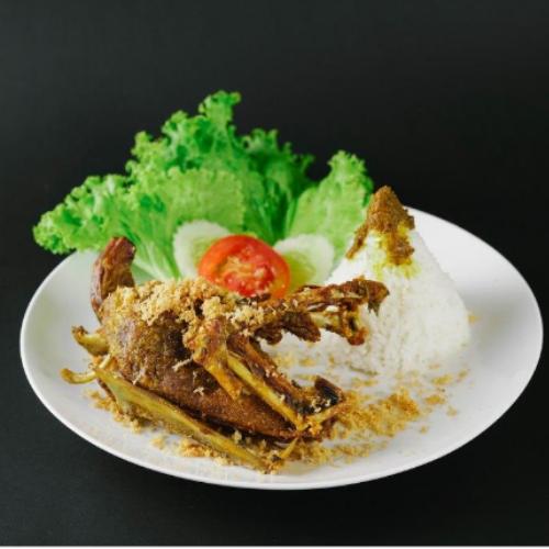 Nasi Putih + Bebek Kremes Dada
